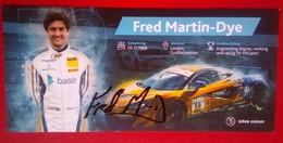 Fred Martin-Dye (Dorr Group) - Handtekening