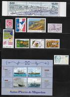SAINT PIERRE ET MIQUELON  ( SPM9  460 )  1999  N° YVERT ET TELLIER  N° 686/705  N** - St.Pierre & Miquelon