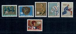 JUGOSLAVIA - 1962 - L'ARTE JUGOSLAVA ATTRAVERSO I SECOLI. SERIE COMPLETA - MNH** - 1945-1992 Repubblica Socialista Federale Di Jugoslavia