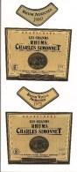 2 Etiquettes  RHUM  Charles SIMONNET - 1969 Et 1975 - Cuvée XXè Siècle - Distillerie Grosse Montagne -  GUADELOUPE -- - Rhum