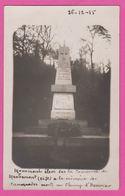 MACHEMONT - CP 04 - Munument Commemoratif 26-12-15 - France
