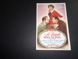 Artiste ( 285 )  Acteur - Affichette Espagnol Cinéma  Ciné Espagne  Espana  ( Blanco Au Verso ) : Claudette Colbert - Publicidad