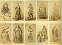 Egypte Portraits Féminins Costume Traditionnel & Canal De Suez Ancienne Photo 1890 - Old (before 1900)