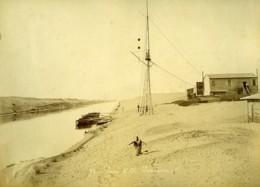 Egypte Canal De Suez Gare De El Ferdan Ferdane & Ismailia Ancienne Photo Arnoux 1890 - Antiche (ante 1900)