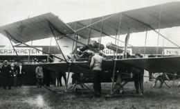 Belgique Bruxelles Meeting De Stockel Aviation Verstraeten Sur Sommer Ancienne Photo 1910 - Aviation