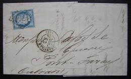 Granville (Manche) 1875 Lefèvre Rioult Négociant Armateur Voir En Tête, + étiquette à L'arrière - 1849-1876: Periodo Clásico