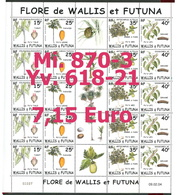 Wallis & Futuna - Michel 870-873 Im Kleinbogen / MF -  ** Mnh Neuf Postfris - (Yvert 618-621) - Wallis Und Futuna