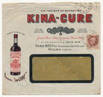 """FRANCE - Trois Enveloppes Publicitaires """"KINA-CURE"""" (Vin Au Quinquina) 1942 Et 1935 - Deux Différentes - 1941-42 Pétain"""