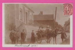 MACHEMONT - CP 08 - Photo Cépia ,charette Avec Personnages 1906 - France