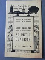 """BRAINE-LE-COMTE Chorale Royale Des XVI """"Au Petit Bonheur"""" Programme 1954 Avec Nombreuses Publicités Commerces - Cultura"""