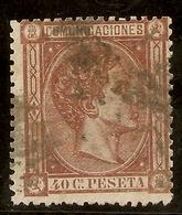 España Edifil 167 (º)  40 Céntimos Castaño  Alfonso XII  1875  NL1226 - Usados