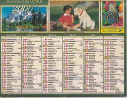 Calendrier Des Postes PTT 2000, SEINE-MARITIME, La Ciotat, Fillettes, Labrador, 6 Photos Sur Carton Souple - Calendriers