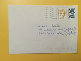 2000 BUSTA GERMANIA DEUTSCHE BOLLO DONNE WOMEN ANNULLO BRIEFZENTRUM 89  GERMANY - [7] Repubblica Federale
