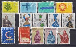 Liechtenstein 1966 Year (see Scan) ** Mnh (43374) - Liechtenstein