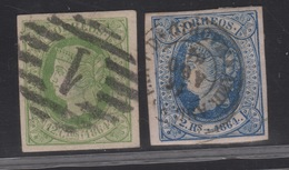 1864 Isabel II Edifil 65(º) Y 68(º) VC 40,00€ - Oblitérés