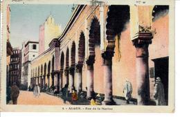 CARTE POSTALE ALGERI 1935 VIAGGIATA DA ALGERI A TRIESTE SENZA FRANCOBOLLI - Algeri