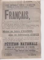 PARIS POSTER IN WARTIME MOINS BOIRA D'ALCOOL PLUS ON FABRIQUERA D'OBUS  +-18*13CM WORLD WAR GUERRE MUNDIAL - Guerra, Militares