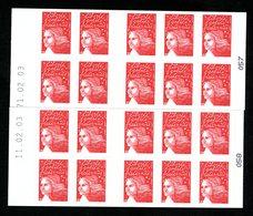 Carnet CAO -LUQUET RF (La Boutique...) -  ERREUR De Date - 71.02.03 Au Lieu De 11.02.03 - YT 3419-C6b - Definitives