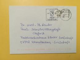 2000 BUSTA GERMANIA DEUTSCHE BOLLO DONNE WOMEN HISTORY ANNULLO BRIEFREGION 57 ETICHETTA LENNERSTADT GERMANY - [7] Repubblica Federale