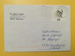 2000 BUSTA GERMANIA DEUTSCHE BOLLO FUR DIE BRIEFMARKE ANNULLO BRIEFZENTRUM 59  GERMANY - [7] Repubblica Federale