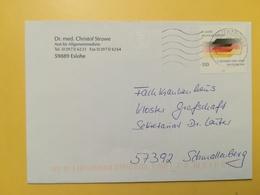 2000 BUSTA GERMANIA DEUTSCHE BOLLO EINHEIT ANNULLO BRIEFZENTRUM 59  GERMANY - [7] Repubblica Federale