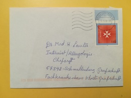 2000 BUSTA GERMANIA DEUTSCHE BOLLO JOHANNITER MALTESER ANNULLO BRIEFZENTRUM 59  GERMANY - [7] Repubblica Federale