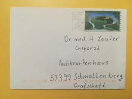 2000 BUSTA GERMANIA DEUTSCHE BOLLO SOORSCHLEIFE ANNULLO BRIEFZENTRUM 59 ETICHETTA SIMZU  GERMANY - [7] Repubblica Federale