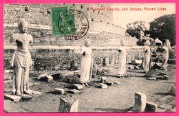 Ceylon - Sri Lanka - Ruanweli Dagoba And Statues Ruined Cities - Edit. PLATE Et Co - Oblit. CHOLON 1907 - Sri Lanka (Ceylon)
