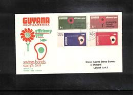 Guyana 1968 Savings Bonds FDC - Guyana (1966-...)
