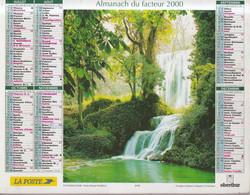 Calendrier Des Postes PTT 2000, SEINE-MARITIME, Moulin De Provence, Cascade, 2 Photos Sur Carton Dur - Calendriers