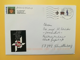 2000 BUSTA GERMANIA DEUTSCHE BOLLO BISTUM PADERBORN ANNULLO BRIEFZENTRUM 32  GERMANY - [7] Repubblica Federale