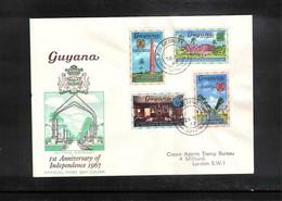 Guyana 1967 1st Anniversary Of Independence FDC - Guyana (1966-...)