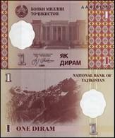 10 Pieces Tajikistan 1 Diram 1999 UNC - Tadzjikistan