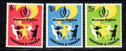 APR203 - TRINIDAD TOBAGO 1968 , Serie Yvert N. 223/225 ***   (2380A) . Diritti Uomo - Trindad & Tobago (1962-...)