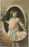 (514) Vive Marie - Meisje Met Roze Kleedje - Blauwe Strik In Het Haar - 1911 - Fête Des Mères