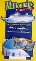 FDJ - F.D.J. FRANÇAISE DES JEUX PUBLICITÉ PRÉSENTOIR DE CAISSE MILLIONNAIRE  - NOTRE SITE Serbon63 - Publicités
