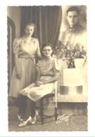 Photo Carte Surréaliste, 2 Soeurs Pensent à Leur Frère Prisonnier - Stalag VIII A Cdo 1298, Armée Belge Guerre 40 (b253) - Guerra 1939-45