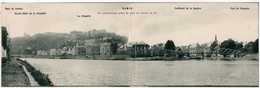 Namur : Carte Panoramique Double Format : Vue Panoramique Prise Du Pont De Chemin De Fer (Editeur Bloc-Terpi, N°1) - Namur