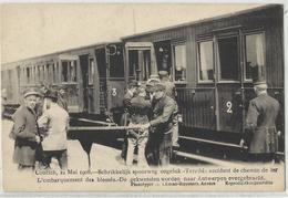 Kontich - Contich 21 Mai 1908 Schrikkelijk Spoorweg Ongeluk De Gekwetsten Worden Naar Antwerpen Overgebracht - Kontich