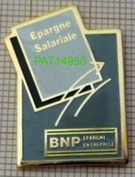 BANQUE  BNP   EPARGNE SALARIALE EPARGNE ENTREPRISE - Banques