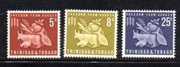 APR742 - TRINIDAD TOBAGO 1963 , Serie Yvert N. 197/199 ***  MNH  (2380A) . Fame Faim - Trindad & Tobago (1962-...)