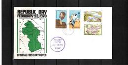 Guyana 1970 Republic Day FDC - Guyana (1966-...)