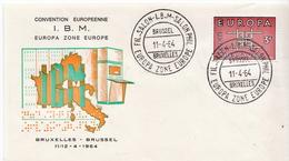 Belgium Stamp On FDC - 1964