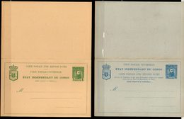 CONGO - 2 ENTIERS -  STIBBE 12E+13E - ERREURS - NEUFS - PARFAIT - UN1 - Stamped Stationery