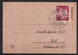 DR FDC ERSTTAGSBRIEF MiNr 862 800 JAHRE LÜBECK V. 24.10.1943 - Cartas