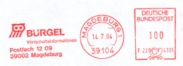 Freistempel 7546 Bürgel Eule Inkasso - Poststempel - Freistempel