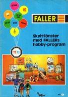 Catalogue  FALLER 1972-73 Modellhus Auto Racing Hit Car Hit Train  - En Suédois - Livres Et Magazines