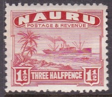 Nauru 1937 Freighter P.11 SG 28B Mint Hinged - Nauru