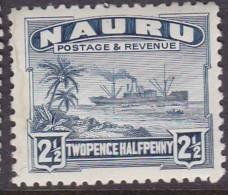 Nauru 1937 Freighter P.11 SG 30B Mint Hinged - Nauru