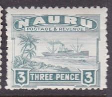 Nauru 1924 Freighter P.11 SG 31A Mint Hinged - Nauru